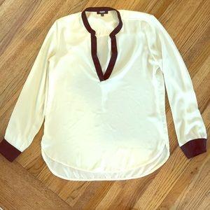 Premise White and Black Long sleeve Blouse